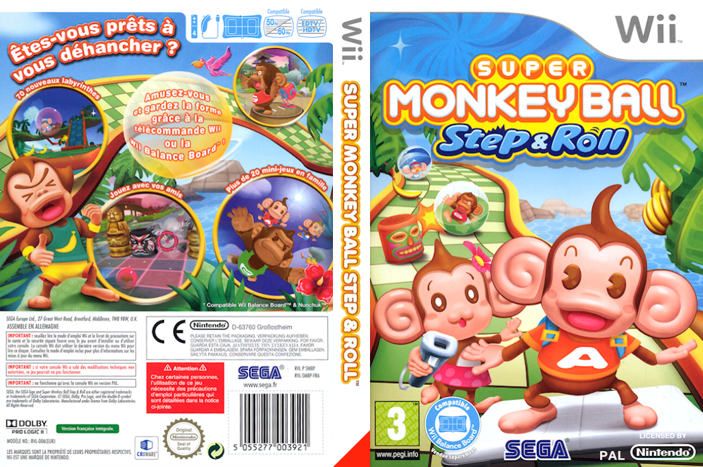 Super Monkey Ball : Step & Roll Wii coverfullHQ (SMBP8P)