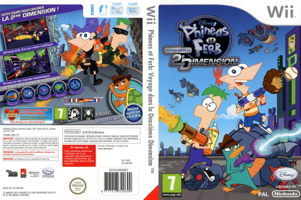 Phineas et Ferb:Voyage dans la Deuxième Dimension Wii coverfullHQ (SMFP4Q)