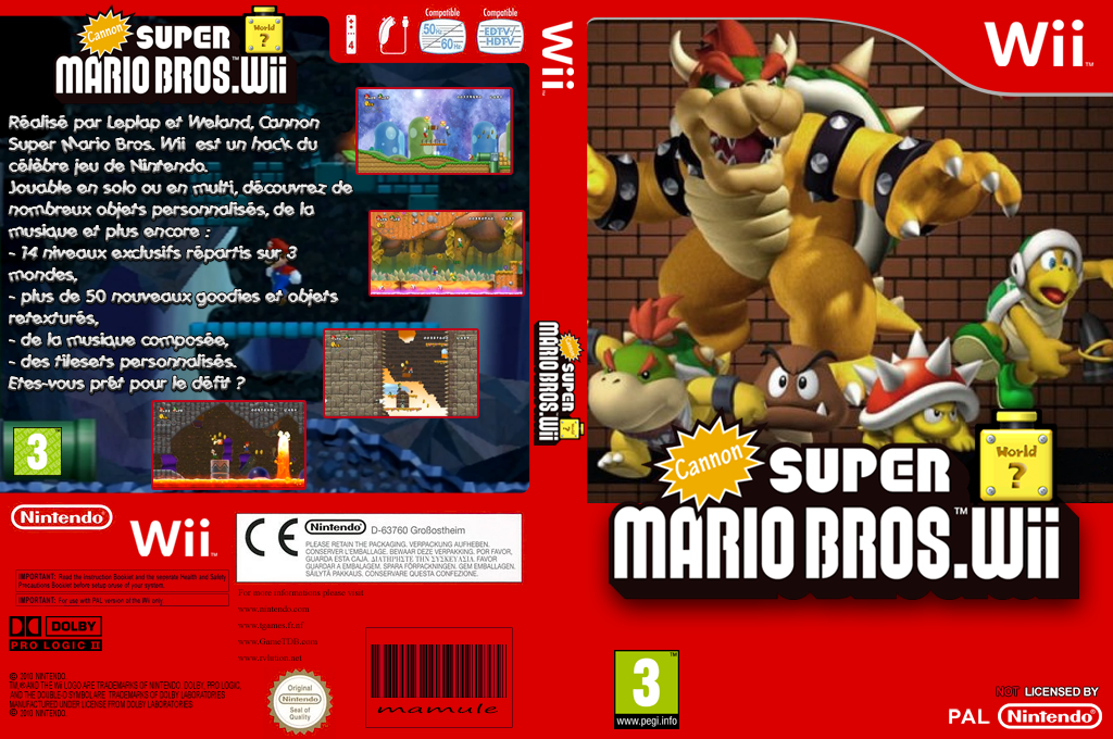 Cannon Super Mario Bros. Wii Wii coverfullHQ (SMNP04)