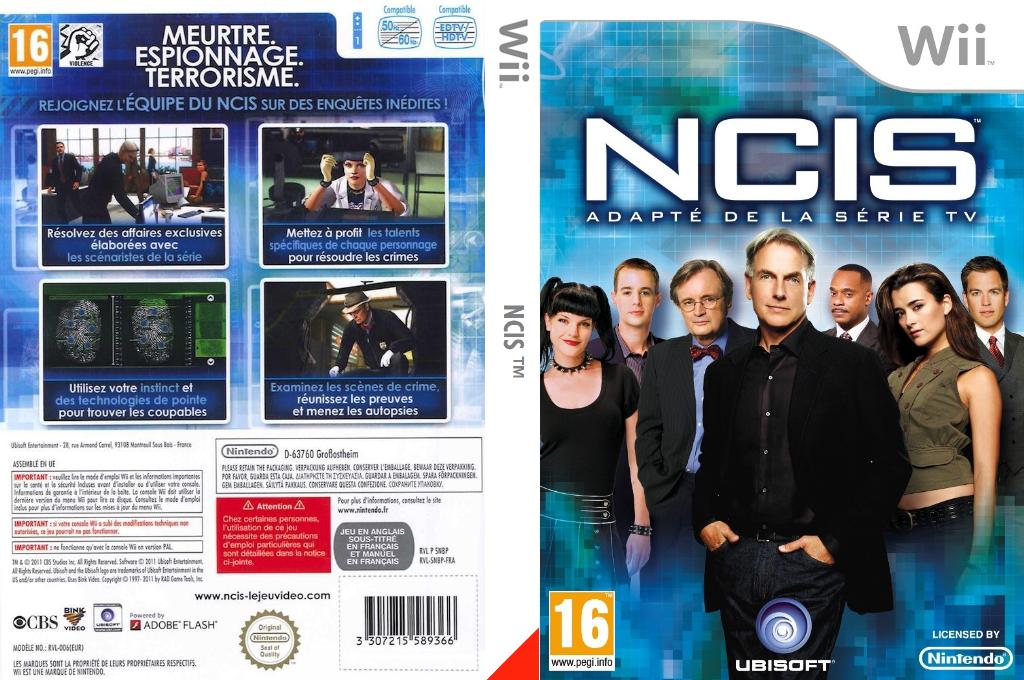 NCIS: Adapté de la série TV Wii coverfullHQ (SNBP41)