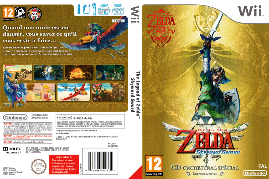 The Legend of Zelda : Skyward Sword Wii coverfullHQ (SOUP01)