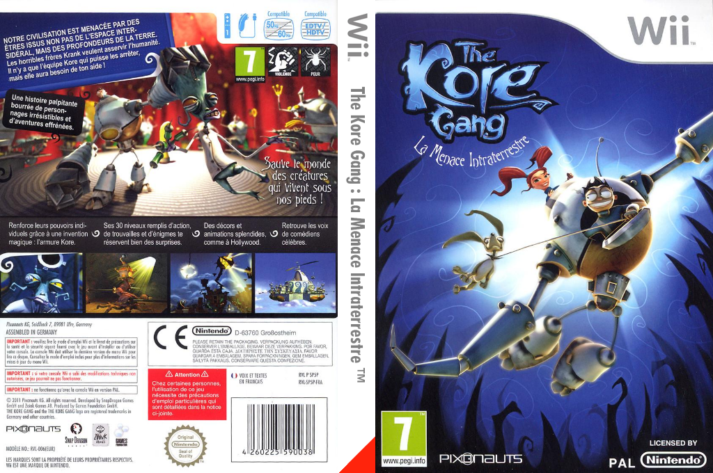 The Kore Gang : La Menace Intraterrestre Wii coverfullHQ (SP5PVV)