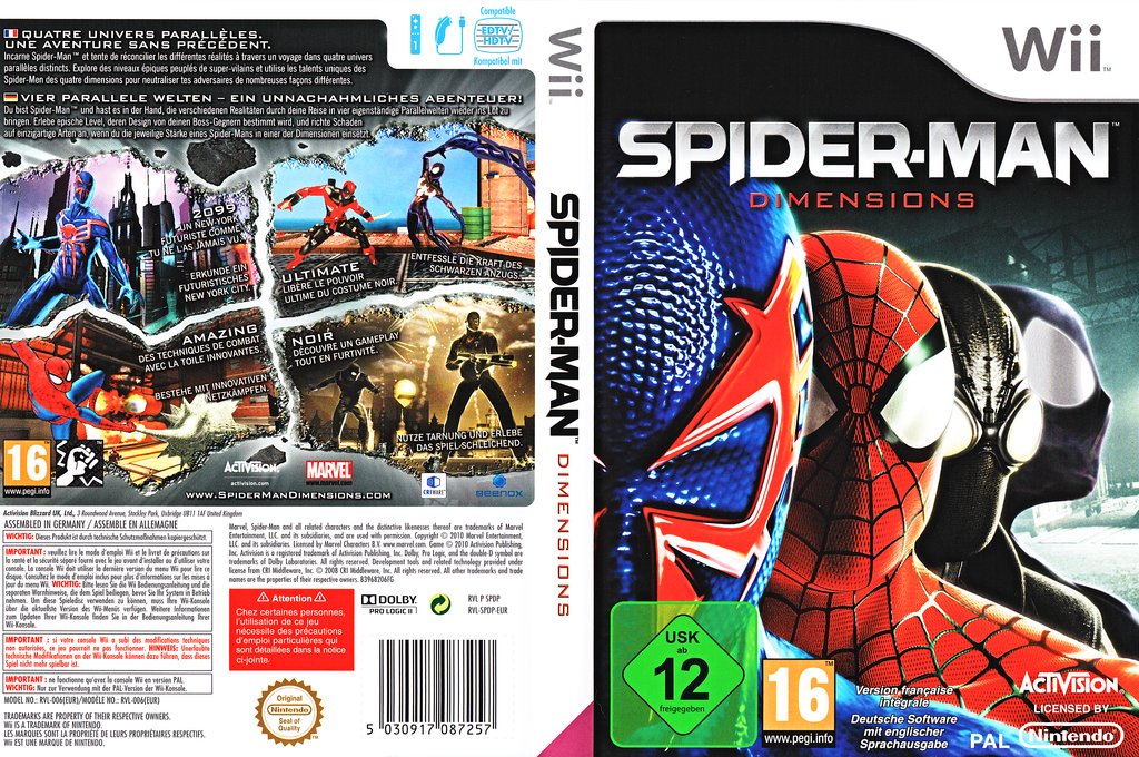 Spider-Man : Dimensions Wii coverfullHQ (SPDP52)