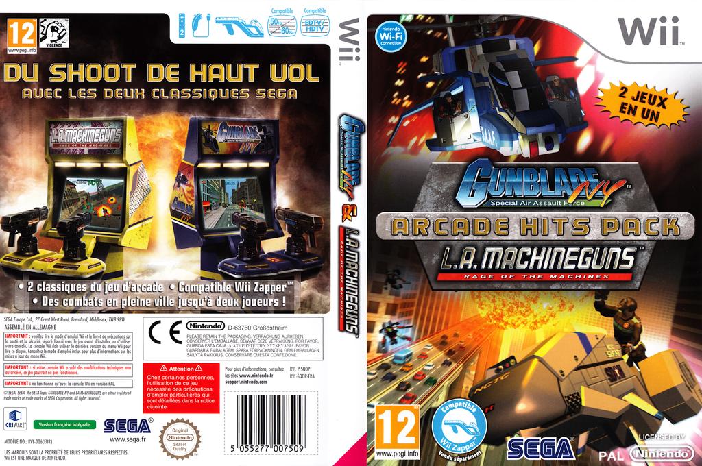 Gunblade NY & LA Machineguns:Arcade Hits Pack Wii coverfullHQ (SQDP8P)
