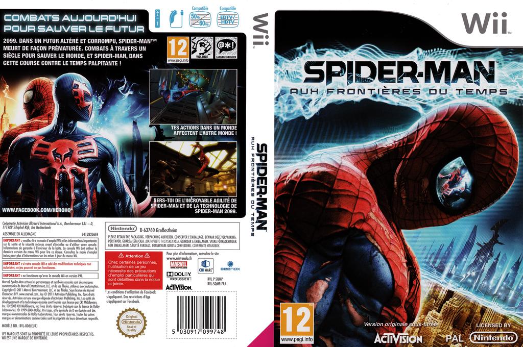 Spider-Man :Aux frontières du temps Wii coverfullHQ (SQMP52)