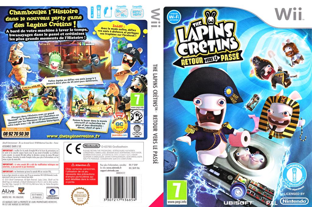 The Lapins Crétins :Retour vers le Passé Wii coverfullHQ (SR4P41)
