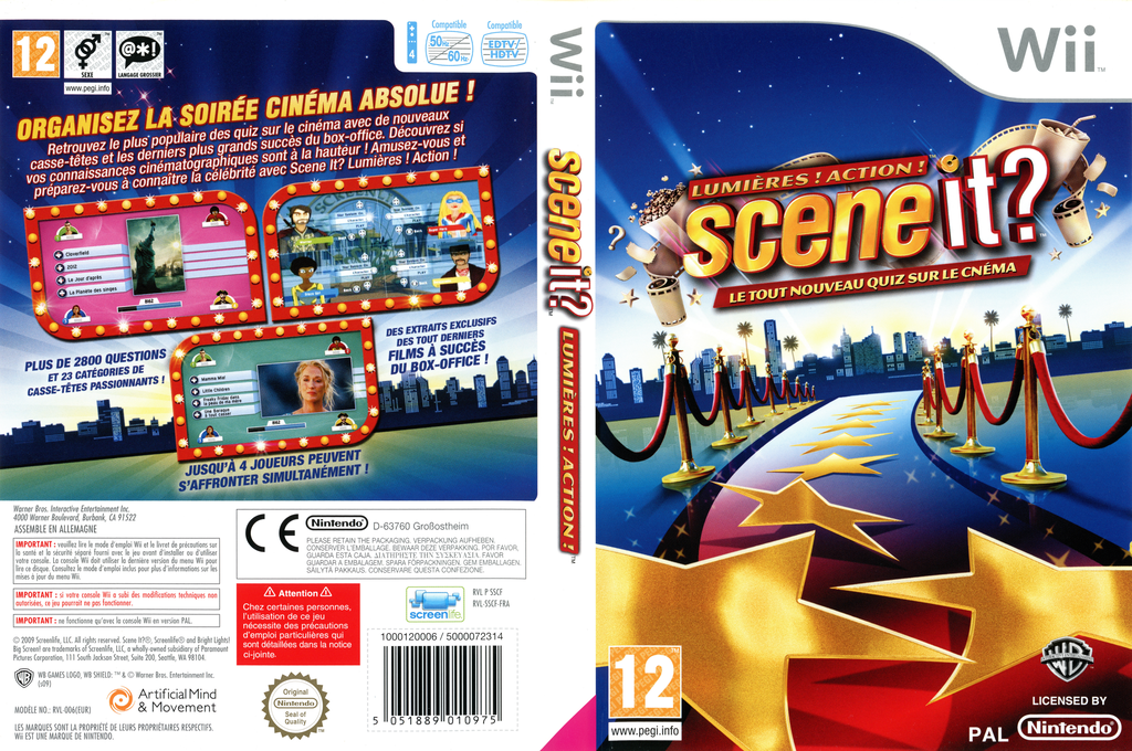 Scene it? Lumières! Action! Wii coverfullHQ (SSCFWR)