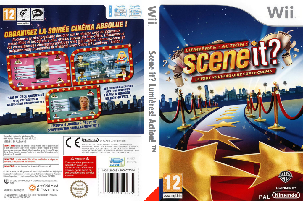 Scene it? Lumières! Action! Wii coverfullHQ (SSCIWR)