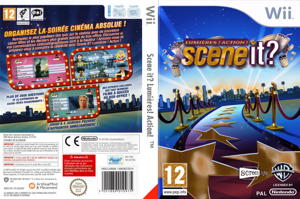 Scene it? Lumières! Action! Wii coverfullHQ (SSCPWR)