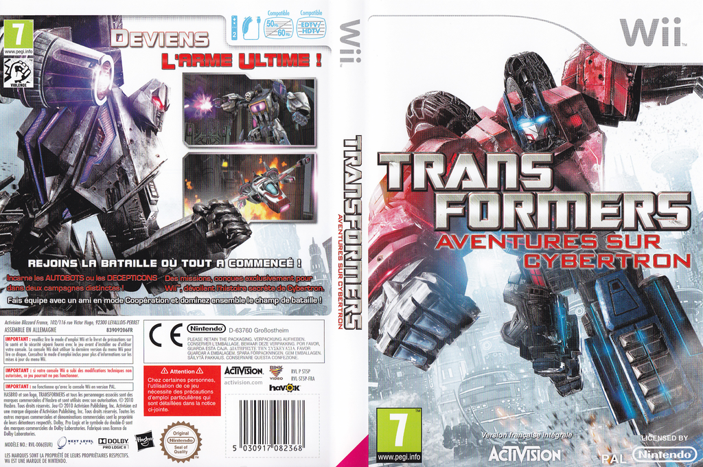 Transformers:Aventures sur Cybertron Wii coverfullHQ (ST5P52)