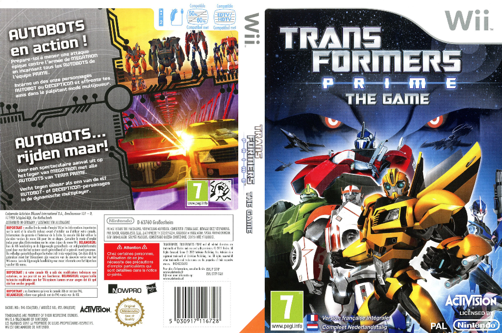 Transformers Prime : The Game Wii coverfullHQ (STFP52)