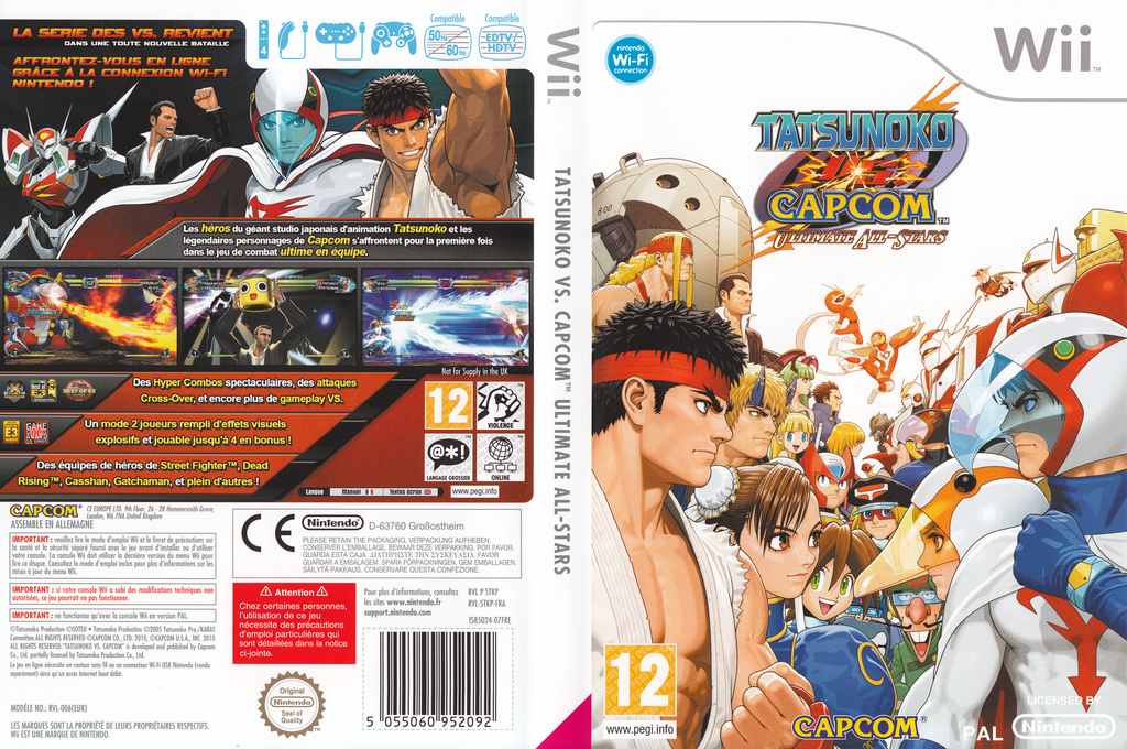 Tatsunoko vs. Capcom : Ultimate All-Stars Wii coverfullHQ (STKP08)