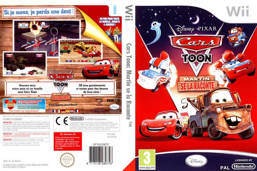 Cars Toon:Martin se la Raconte Wii coverfullHQ (STOP4Q)