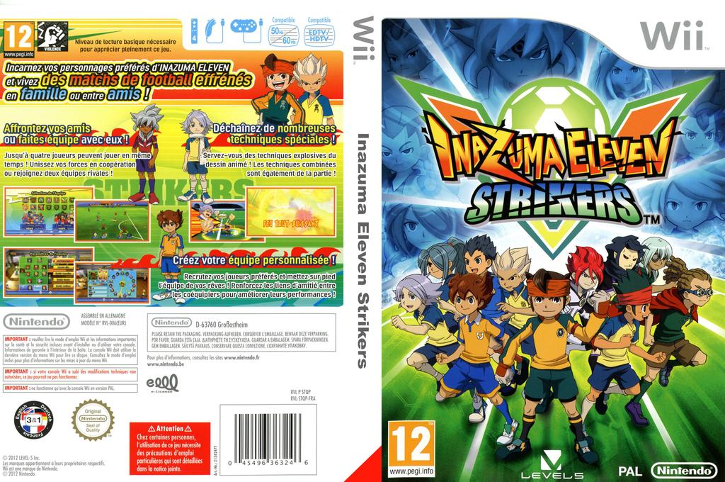 Inazuma Eleven Strikers Wii coverfullHQ (STQX01)