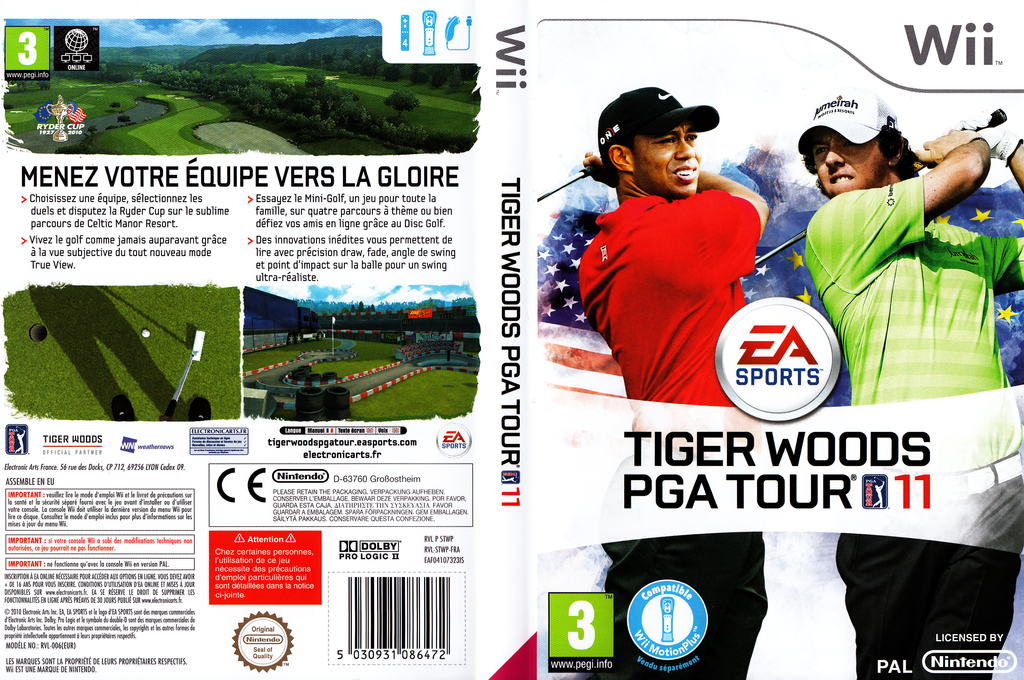 Tiger Woods PGA Tour 11 Wii coverfullHQ (STWP69)