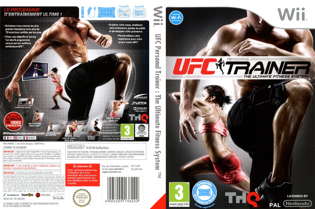 UFC Personal Trainer : The Ultimate Fitness System Wii coverfullHQ (SU4P78)