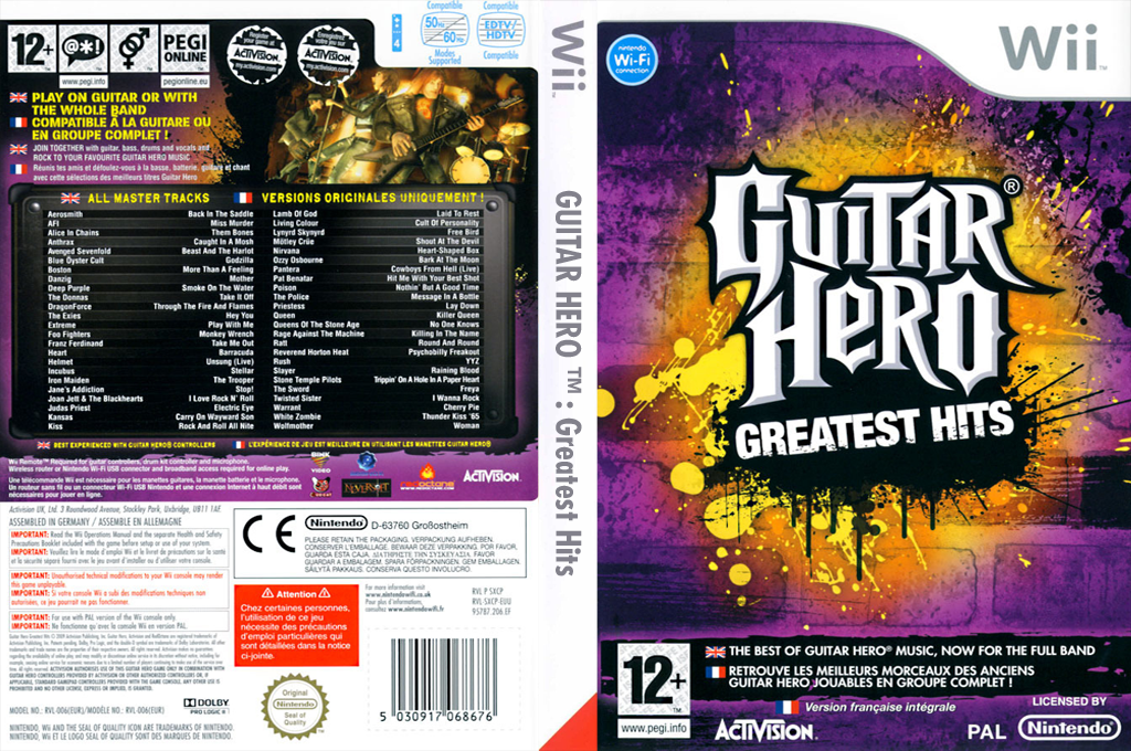Guitar Hero : Greatest Hits Wii coverfullHQ (SXCP52)