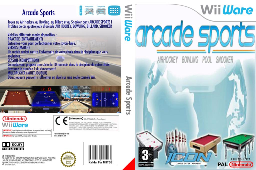Arcade Sports:Air Hockey, Bowling, Pool, Snooker Wii coverfullHQ (W4AP)