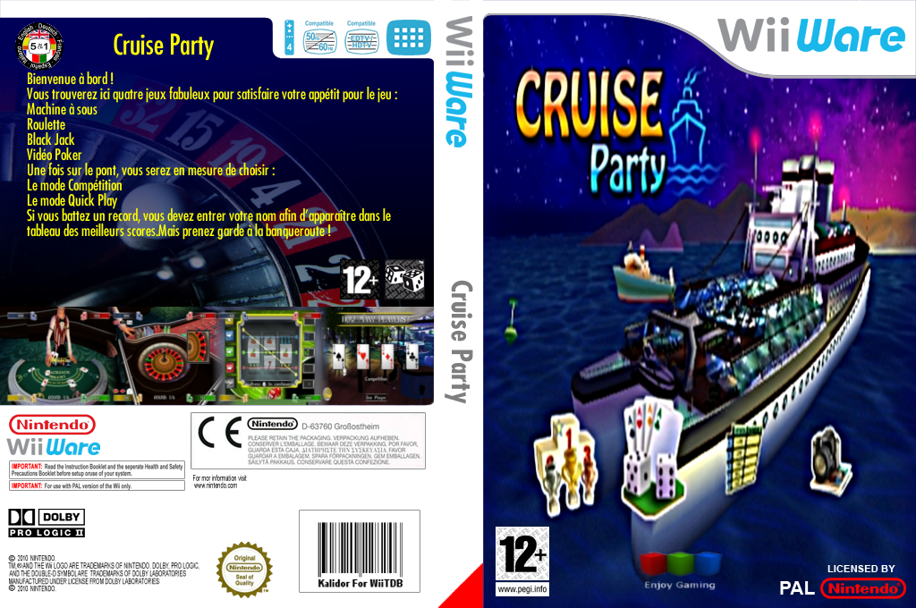 Cruise Party Wii coverfullHQ (W9UP)