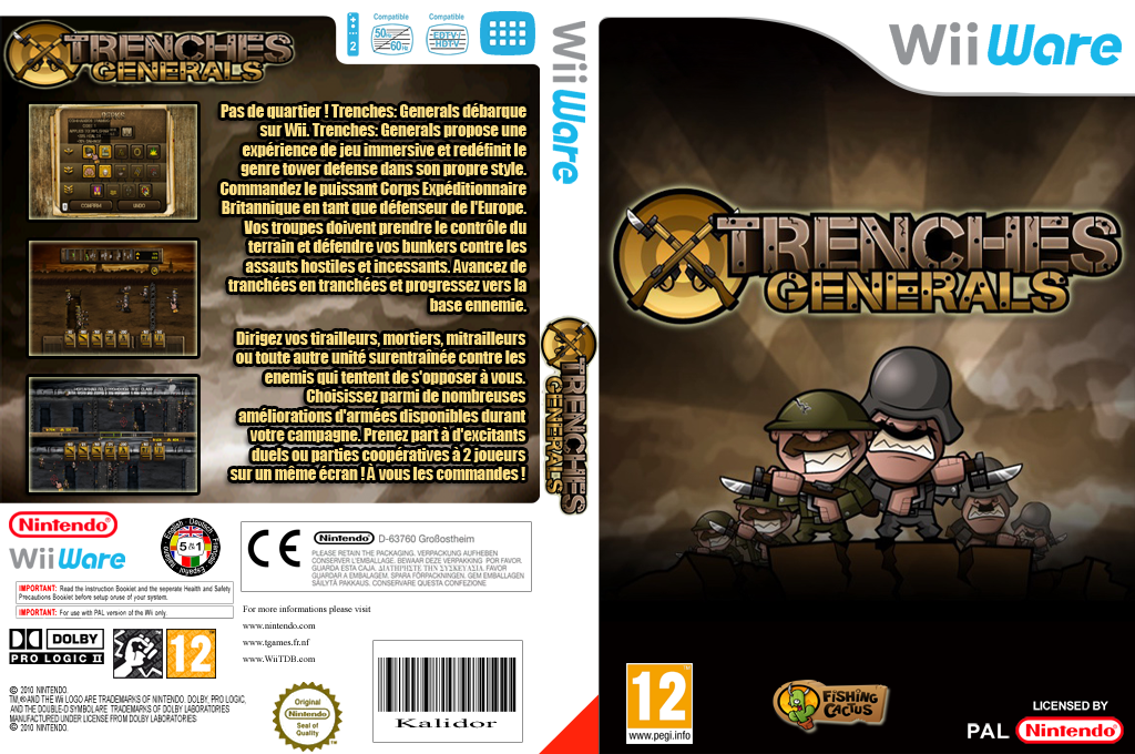 Trenches: Generals Wii coverfullHQ (WAHP)