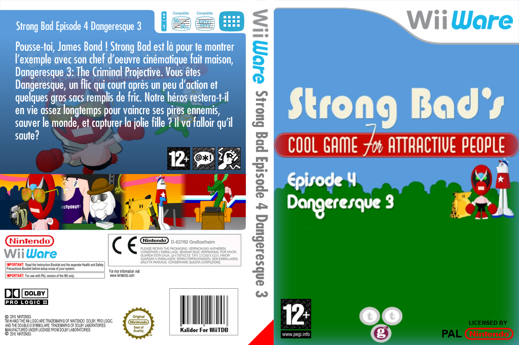 Strong Bad Episode 4 : Dangeresque 3 Wii coverfullHQ (WB2P)