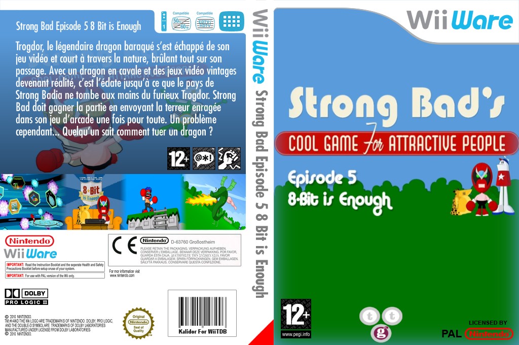 Strong Bad Episode 5 : 8-bit is Enough Wii coverfullHQ (WB3P)