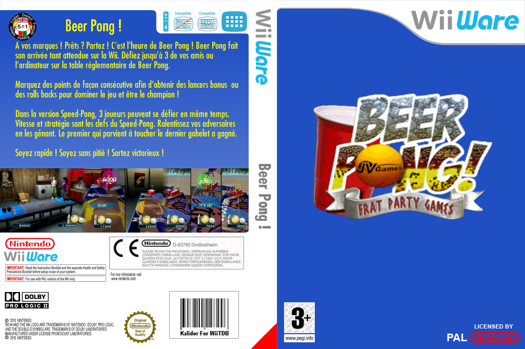 Beer Pong : Frat Party Games Wii coverfullHQ (WBEP)
