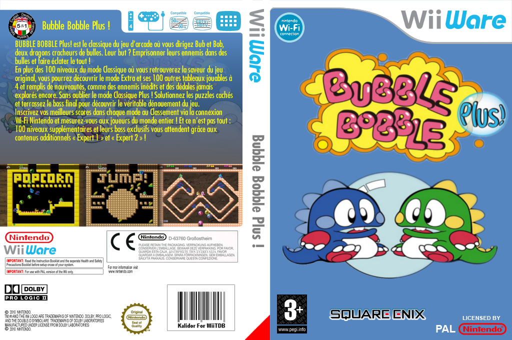 Bubble Bobble Plus! Wii coverfullHQ (WBLP)