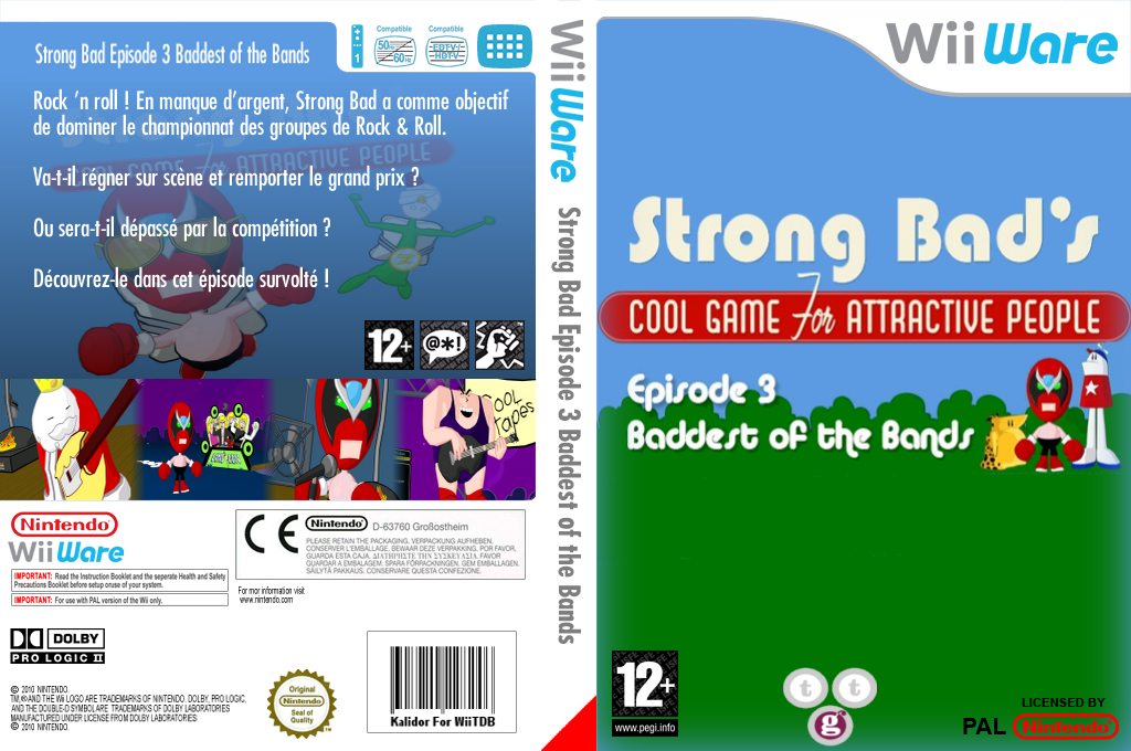 Strong Bad Episode 3:Baddest of the Bands Wii coverfullHQ (WBZP)