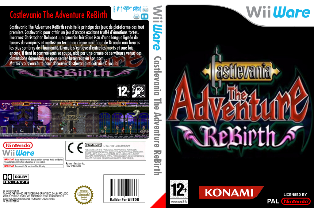 Castlevania : The Adventure ReBirth Wii coverfullHQ (WD9P)