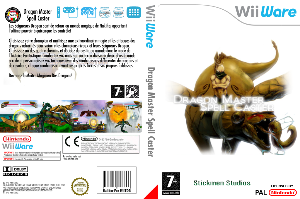 Dragon Master Spell Caster Wii coverfullHQ (WDSP)