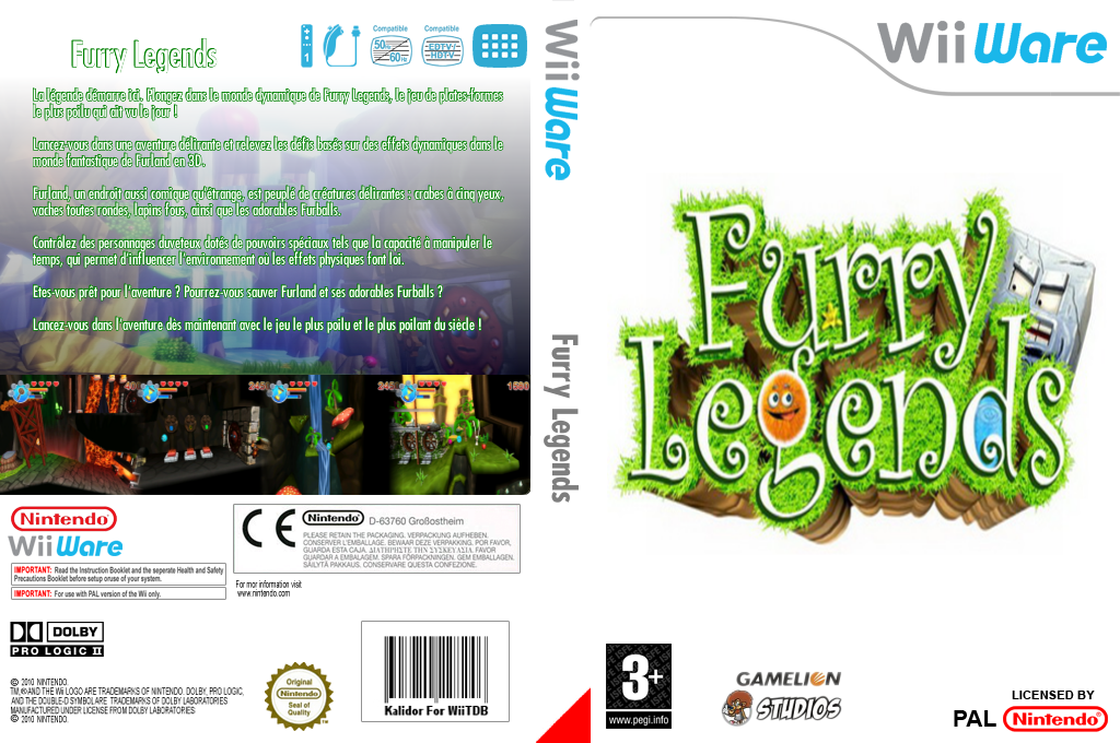 Furry Legends Wii coverfullHQ (WFUP)