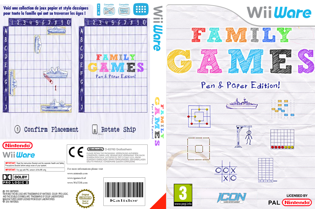 Family Games  Pen & Paper Edition Wii coverfullHQ (WFYP)