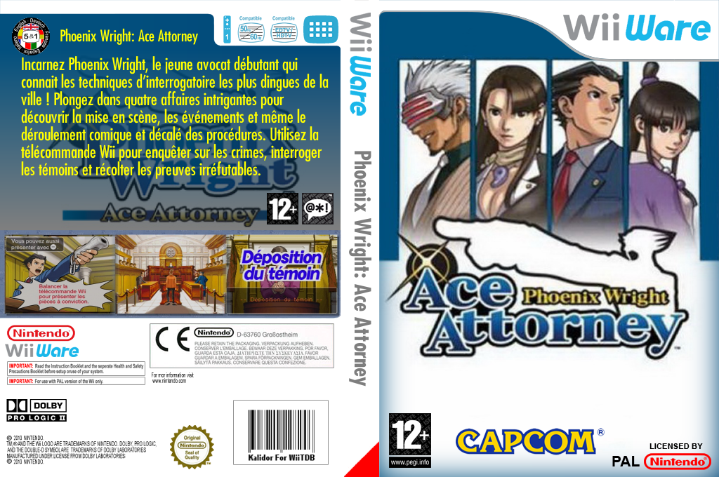 Phoenix Wright: Ace Attorney Wii coverfullHQ (WGSP)