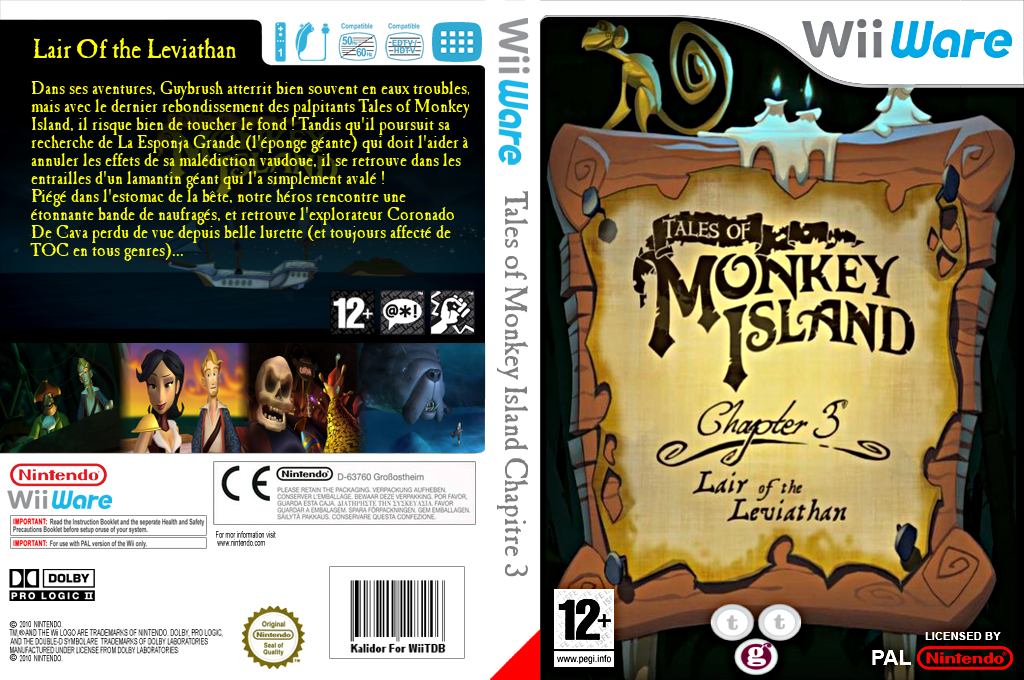 Tales of Monkey Island Chapter 3:Lair of the Leviathan Wii coverfullHQ (WIEP)