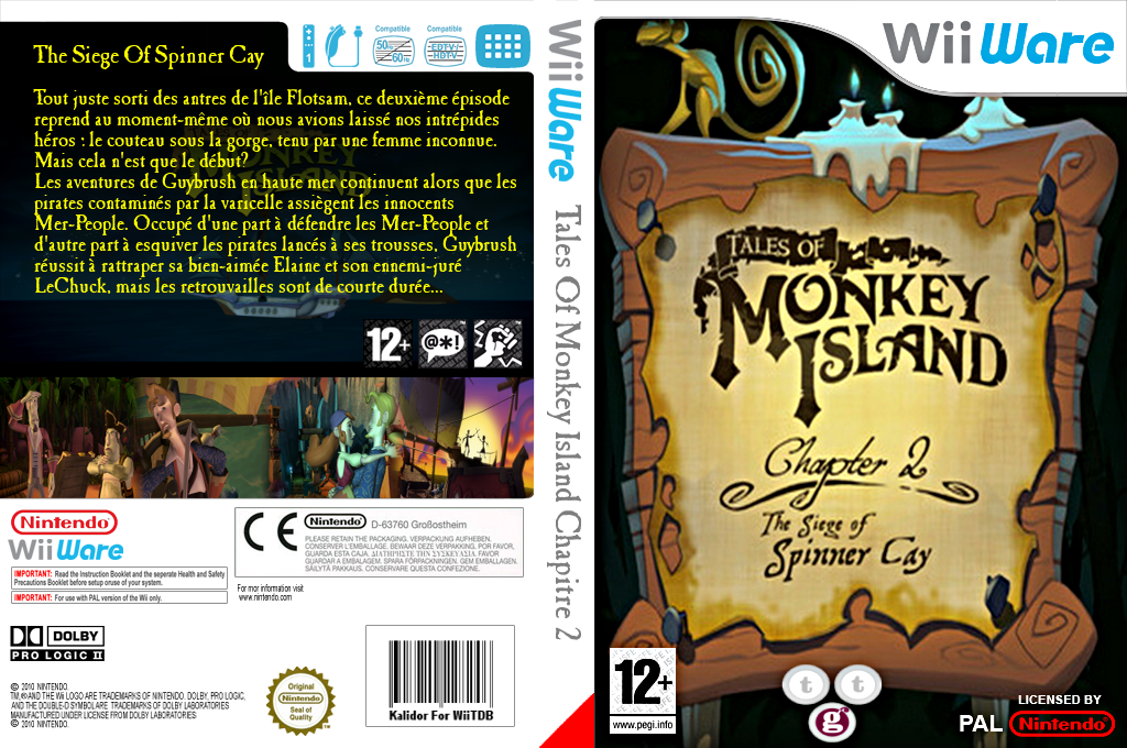 Tales of Monkey Island Chapter 2:The Siege of Spinner Cay Wii coverfullHQ (WISP)