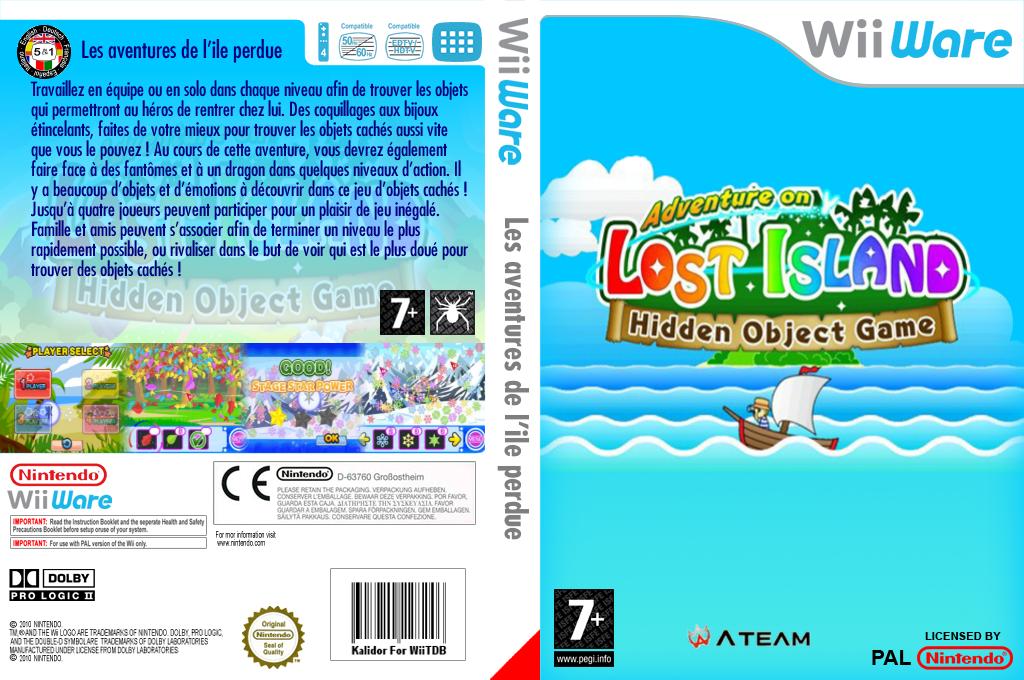Les aventures de l'ile perdue jeu d'objets cachés Wii coverfullHQ (WKWP)