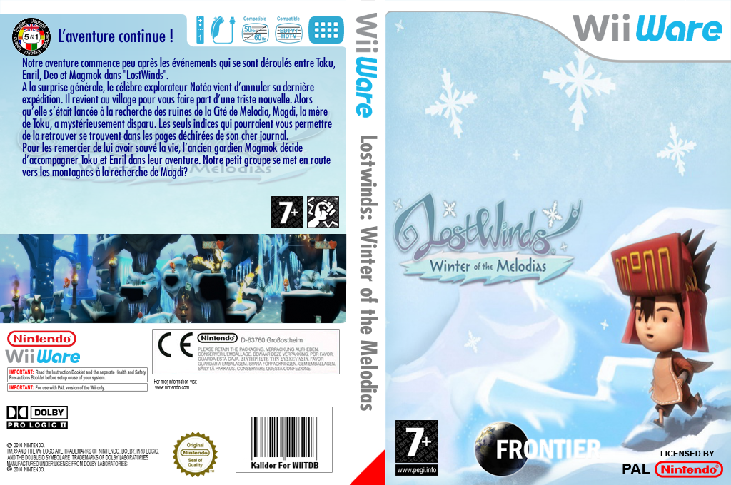 LostWinds : Winter of the Melodias Wii coverfullHQ (WLOP)