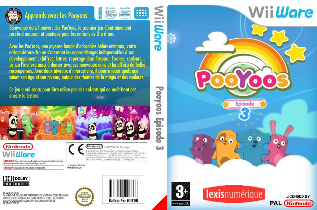 Apprends avec les Pooyoos Episode 3 Wii coverfullHQ (WP4P)
