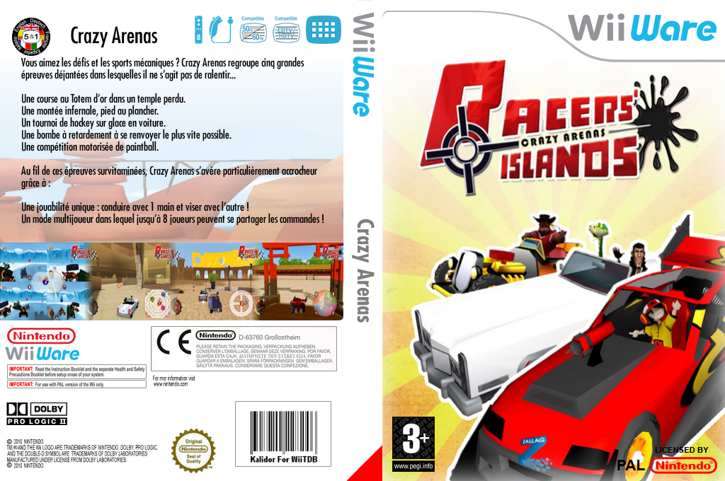 Racers Islands Crazy Arenas Wii coverfullHQ (WREP)