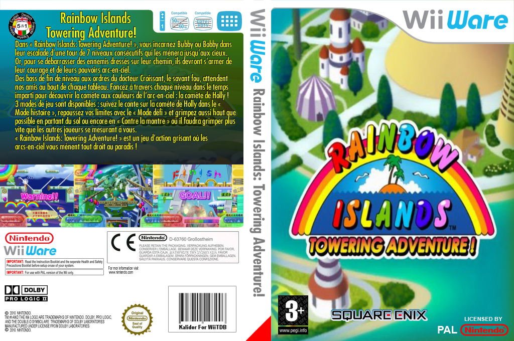 Rainbow Islands : Towering Adventure! Wii coverfullHQ (WRIP)