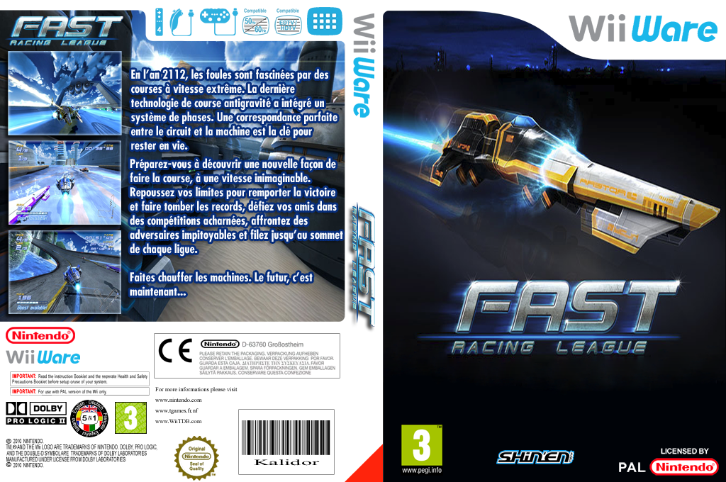 FAST Racing League Wii coverfullHQ (WRLP)