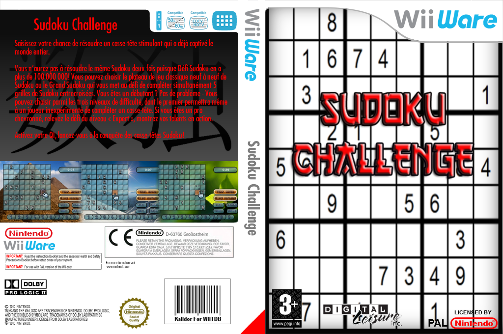 Sudoku Challenge! Wii coverfullHQ (WS9P)