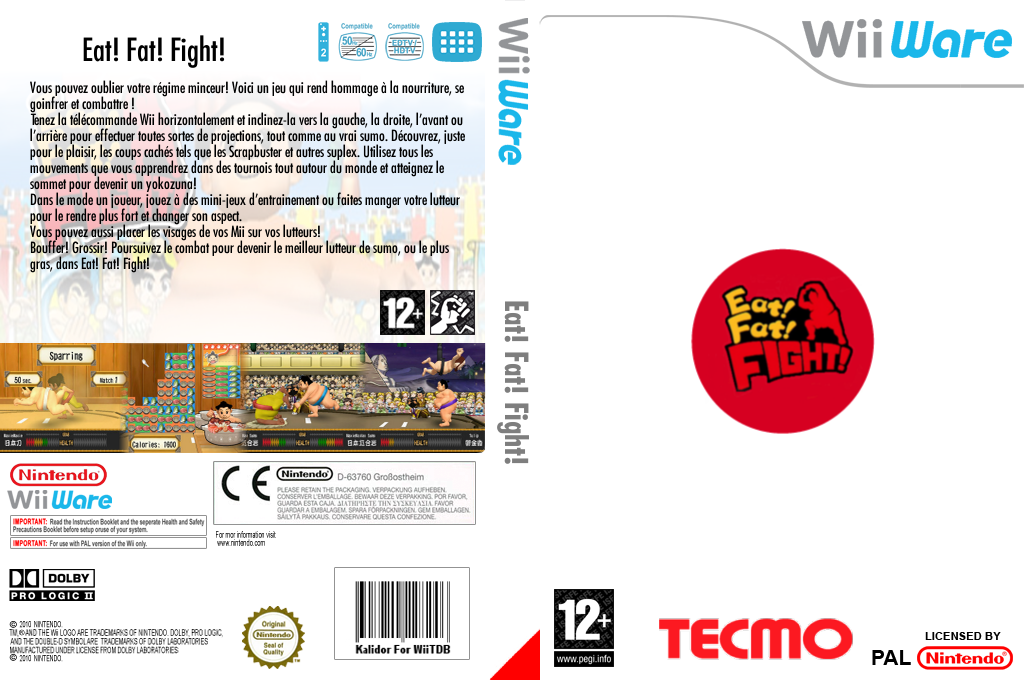 Eat! Fat! FIGHT! Wii coverfullHQ (WSMP)