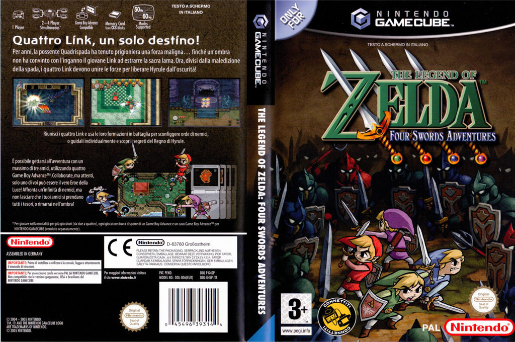 The Legend of Zelda: Four Swords Adventures Wii coverfullHQ (G4SP01)