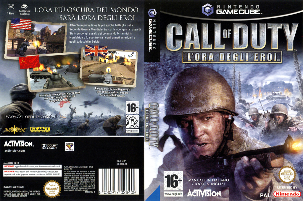 Call of Duty: L'Ora Degli Eroi Wii coverfullHQ (GCOP52)