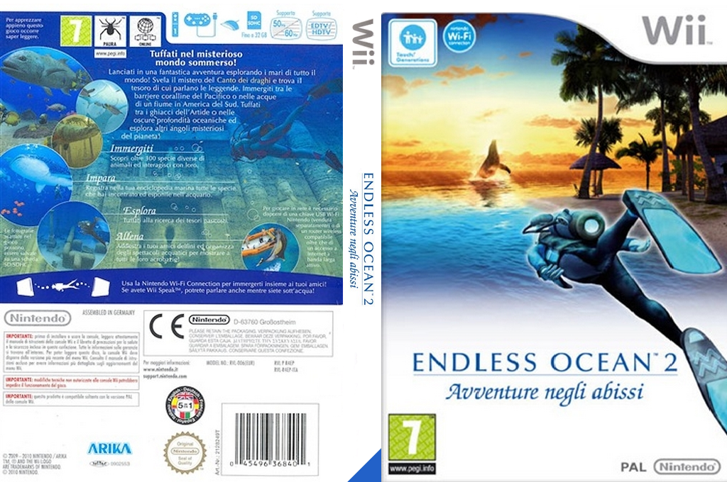 Endless Ocean 2: Avventure negli abissi Wii coverfullHQ (R4EP01)