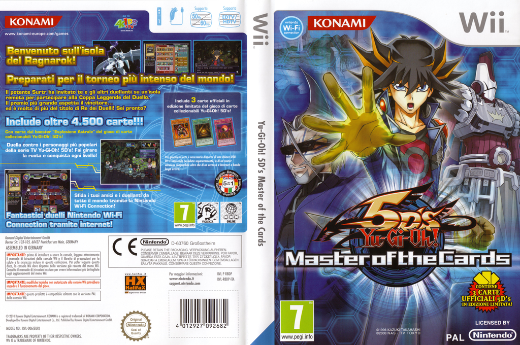 Yu-Gi-Oh! 5D's: Master of the Cards Wii coverfullHQ (R8DPA4)