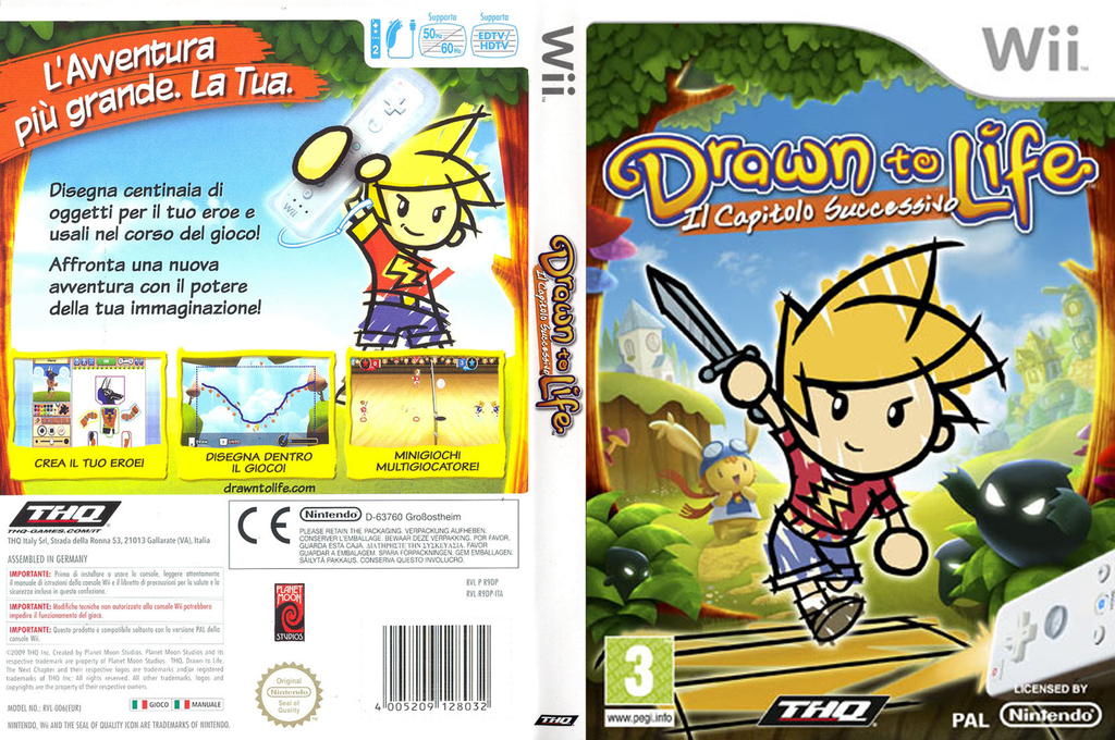 Drawn to Life: Il Capitolo Successivo Wii coverfullHQ (R9DP78)
