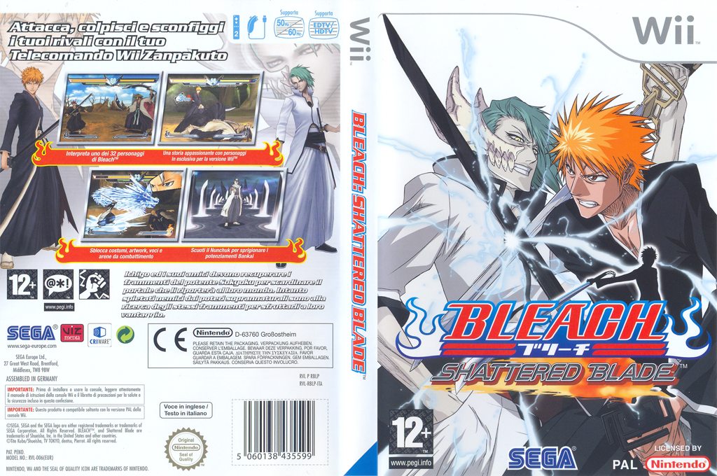 Bleach: Shattered Blade Wii coverfullHQ (RBLP8P)